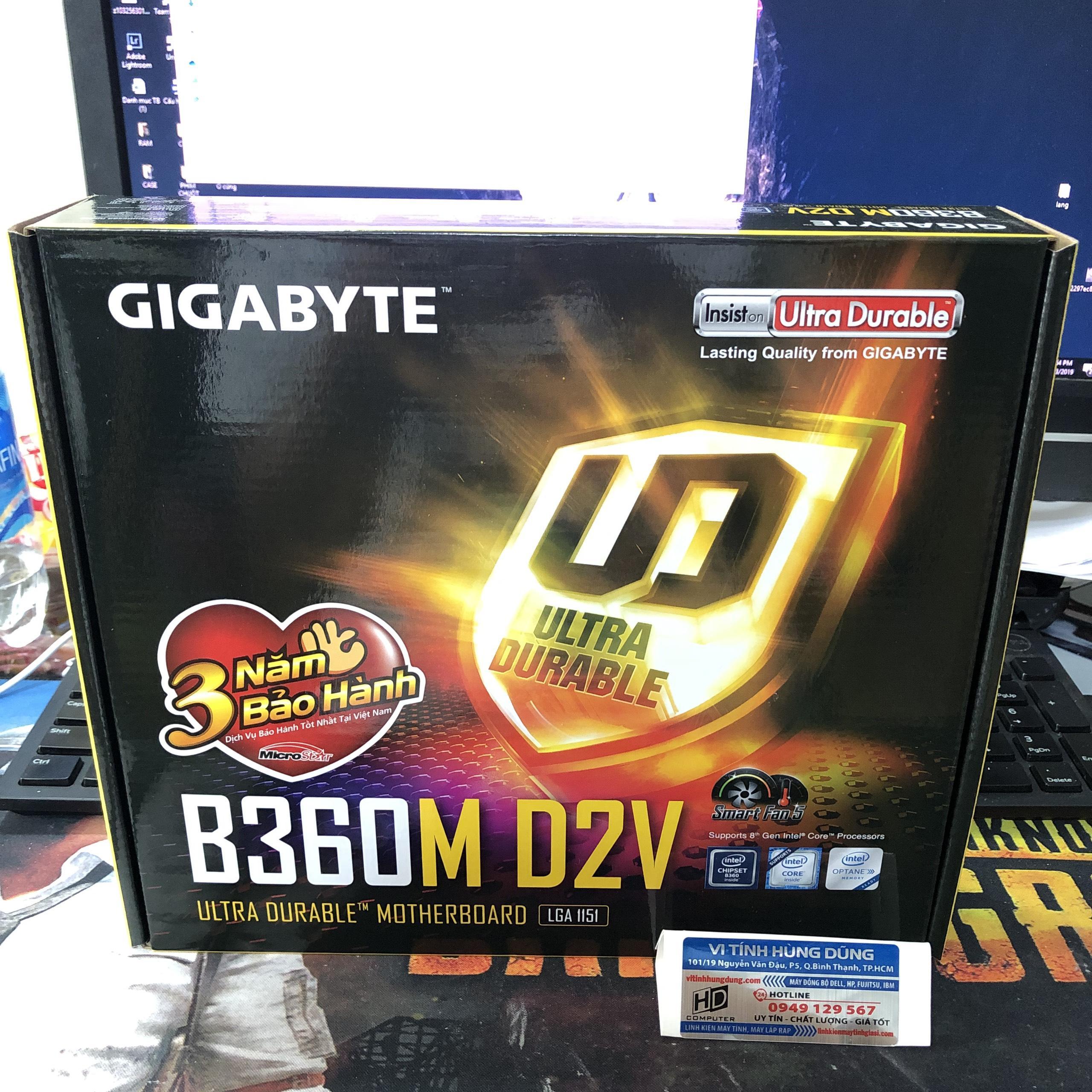 Mainboard GIGABYTE B365M D2V, main máy tính giga b365 m d2v