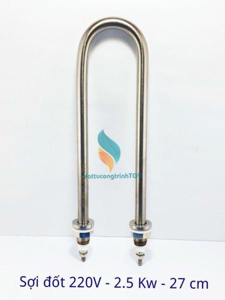 Sợi đốt điện trở nhiệt cho nồi phở 220V/2500W dài 27 cm chân thẳng