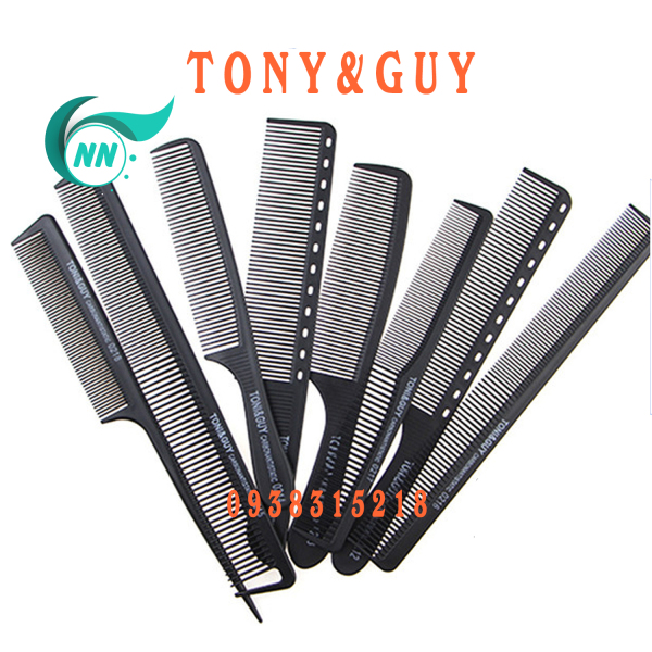 Lược Thẳng 2 đầu thưa 3 mm , dầy 1 mm , dài 17,4 cm x 2,5 cm Lược thường giá thành thấp ( đen ) phụ kiện cho tóc