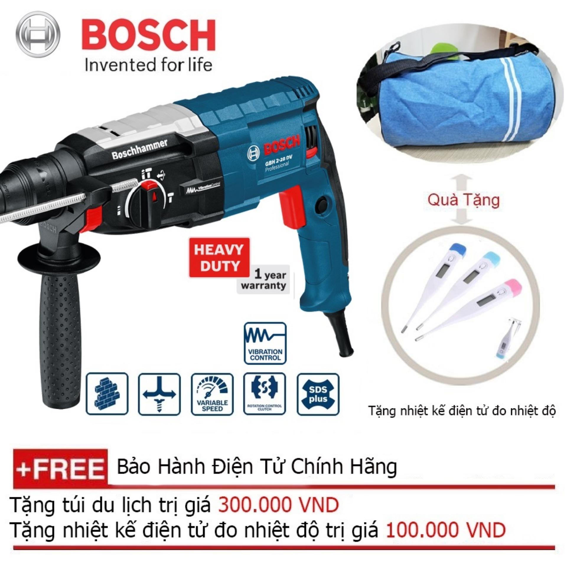 Máy khoan búa Bosch GBH 2-28 DV + Quà tặng balo du lịch