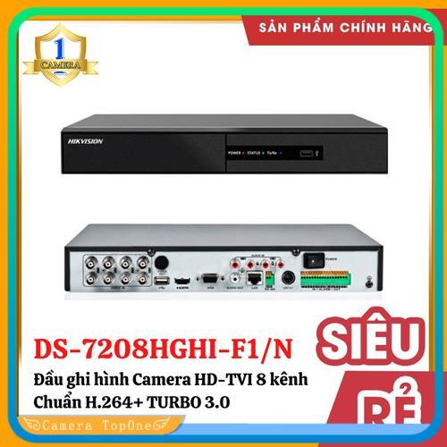 [NHÀ PHÂN PHỐI, BH 2 NĂM, FREESHIP 20K]Đầu ghi hình hd tvi hikvision ds-7208hghi-f1/n chuẩn h.264+, đầu ghi hỗ trợ 5 loại camera: HDTVI 5MP/HDCVI/AHD , Analog camera