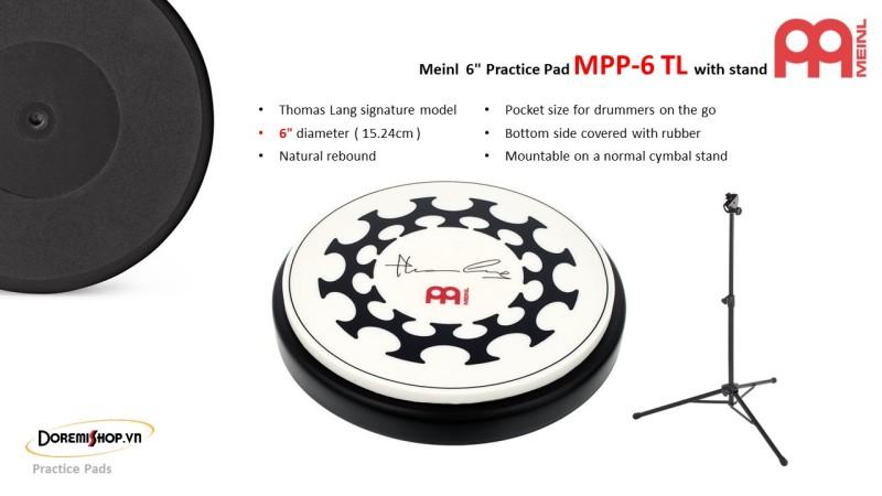 Mặt trống tập kèm chân đỡ Meinl MPP-6 TL