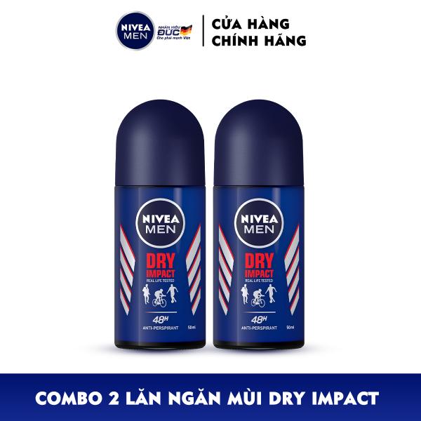Combo 2 Lăn Ngăn Mùi NIVEA MEN Dry Impact Khô Thoáng (50ml) - 81610
