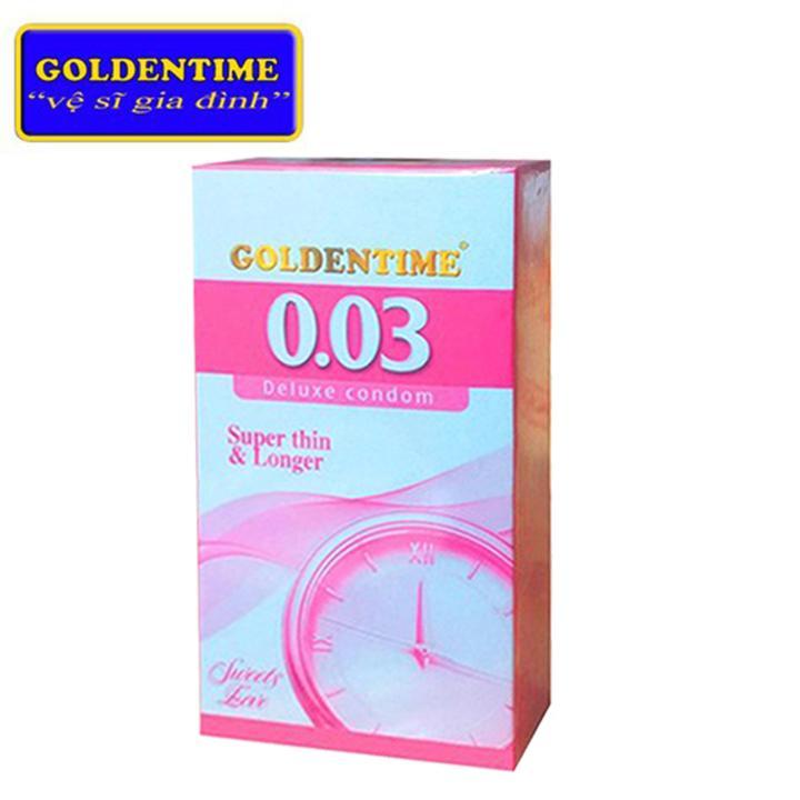 Bao cao su Goldentime Hộp 12 BCS Siêu mỏng, Kéo dài thời gian cao cấp