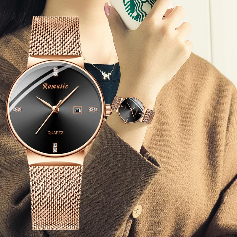 ĐỒNG HỒ NỮ ROMATIC ITALIA - DÂY TITANIUM SANG TRỌNG + TẶNG HỘP & PIN - Đồng hồ nữ cao cấp, Đồng hồ nữ giá rẻ, Đồng hồ nữ kính sapphire, Đồng hồ nữ thời trang, Đồng hồ nữ chống nước, Đồng hồ nữ thể thao, Đẹp