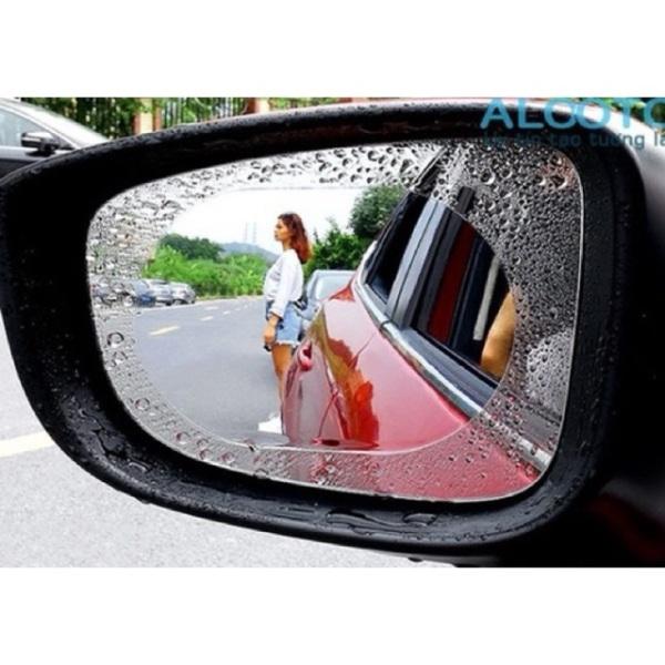 [Loại tốt] 2 miếng dán chống bám nước mưa trên kính hậu xe ô tô - Hình bầu dục, sản phẩm tốt đạt chất lượng cao, cam kết sản phẩm nhận được như hình