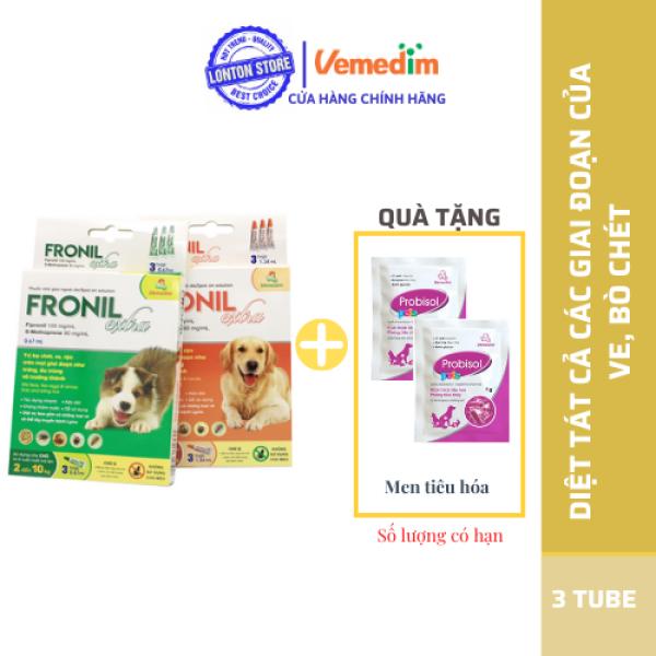 Diệt Ve, Rận, Bọ Chét Cho Chó Mèo Fronil Extra (Hộp 3 Tuýp) - Lonton Store