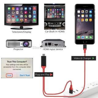 Cáp HDMI Iphone Kết Nối Điện Thoại Ra TiVi Full HD Xịn thumbnail