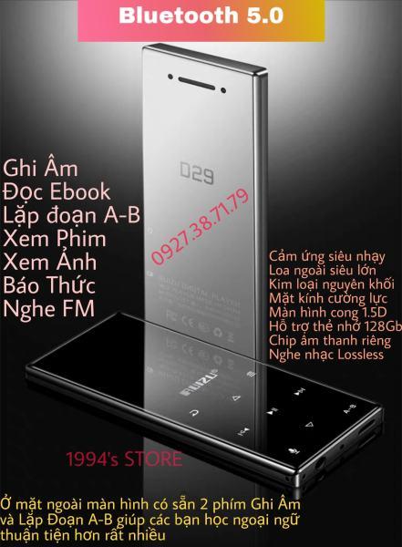 (CÓ SẴN) Máy Nghe Nhạc RUIZU D29 Bluetooth 5.0 Màn Cong 1.5D Hifi Lossless Loa Ngoài, Bản 2021 Tặng Kèm Tai Nghe Hifi