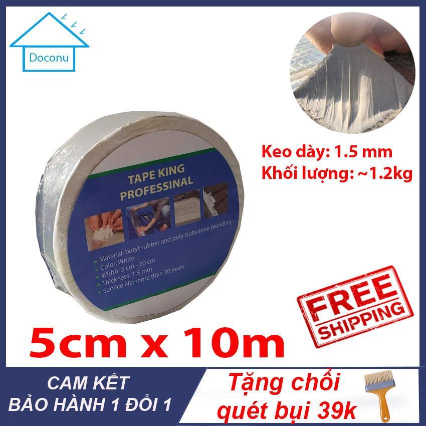 Băng Keo | chống thấm -chống dột- siêu dính | 5cm x 10m |Tặng chổi sơn 39k - DOCONU - Băng keo chống thấm,băng keo chống dột [ CAM KẾT BẢO HÀNH ]