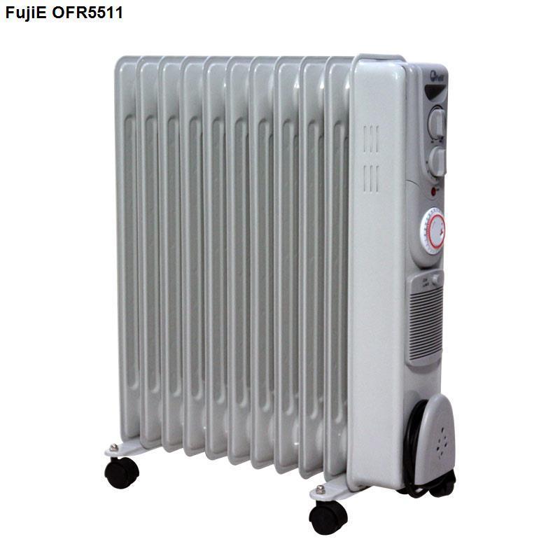 Máy sưởi dầu FujiE OFR5511 Công nghệ Nhật Bản không đốt oxi (11 thanh sưởi, hen giờ, giá phơi,quạt)