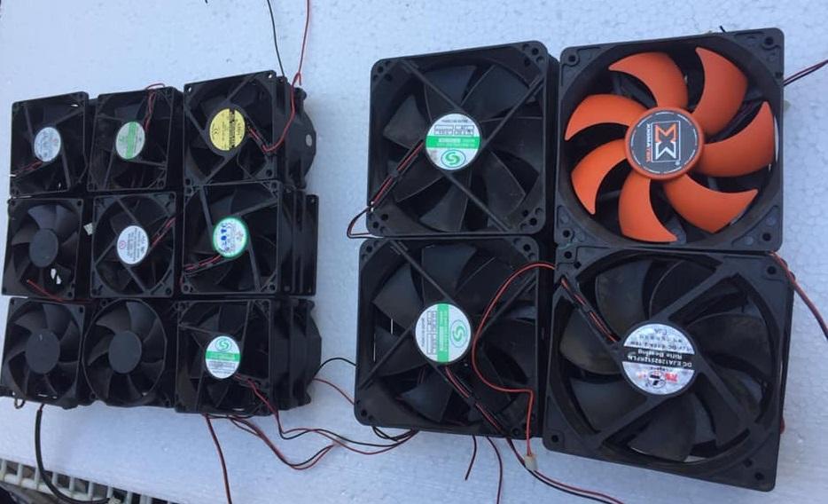 Combo 2 Cái Quạt Fan Tản Nhiệt 12V 12x12x2Cm Giảm Cực Hot
