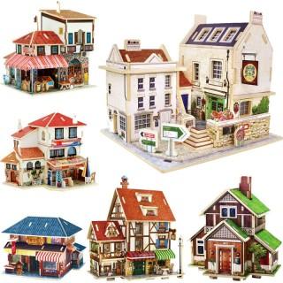 Mô hình nhà gỗ DIY Mẫu các công trình nhà nổi tiếng thế giới, chất liệu gỗ, lắp ghép theo khớp Robotime thumbnail