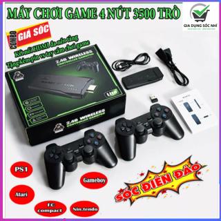 Máy chơi trò chơi trẻ em ps3500 10000 4K Ultra Hd Game Stick -2.4G Wireless Controller gamepad - Máy chơi game điện tử 4 nút 621 trò - tích hợp hơn 3500 games kết nối với tivi máy tính thumbnail