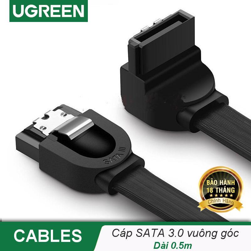 Bảng giá Cáp SATA 3.0 truyền tốc độ cao 6Gb/s dài 0.5m UGREEN US217- Hãng phân phối chính thức Phong Vũ