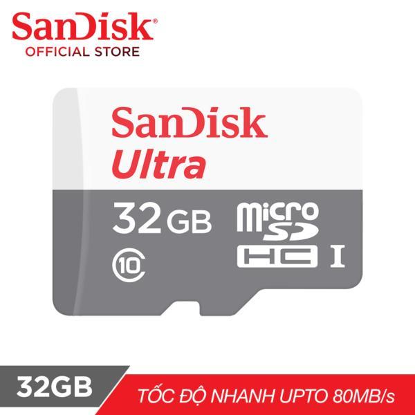 Thẻ nhớ MicroSDHC SanDisk Ultra 32GB 80MB/s (Xám) - Chính hãng