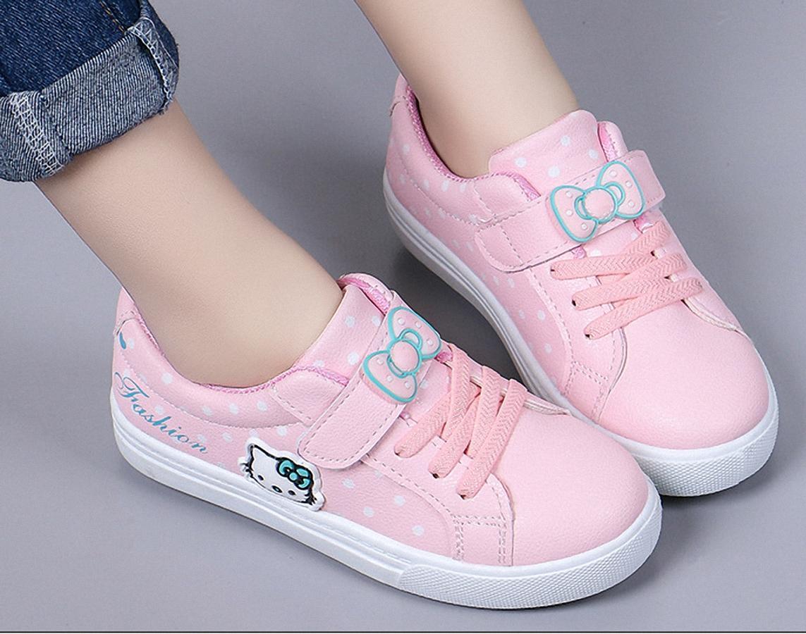 Giày thể thao  phong cách đi học cho bé gái từ 4 - 13 tuổi -TS5