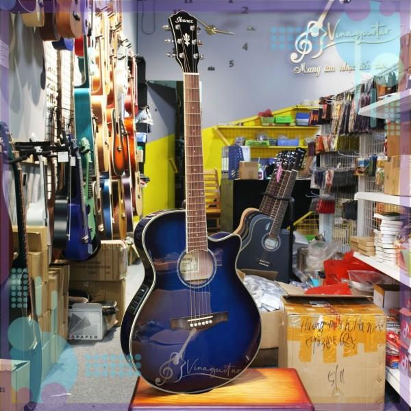 Đàn guitar acoustic Ibanez AEG10[ Sẵn EQ Fishman 301]-phân phối chính hãng tại Nhạc cụ 3 số