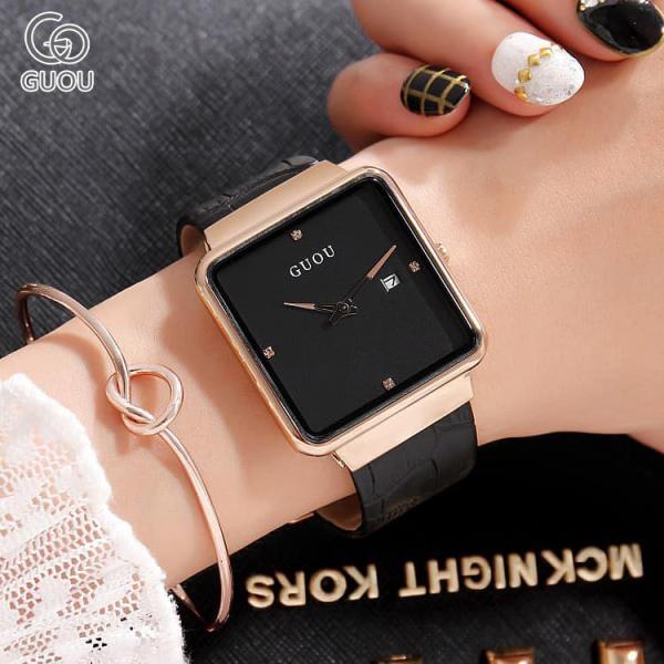 Nơi bán (GIÁ SỐC) Đồng hồ Nữ GUOU Dây Mềm Mại đeo rất êm tay - Kiểu Dáng Apple Watch 40mm, Chống nước