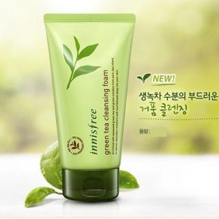 Sữa rửa mặt làm sạch từ trà xanh đảo Jeju Green Tea Foam Cleanser 150ml shopAnn - New thumbnail