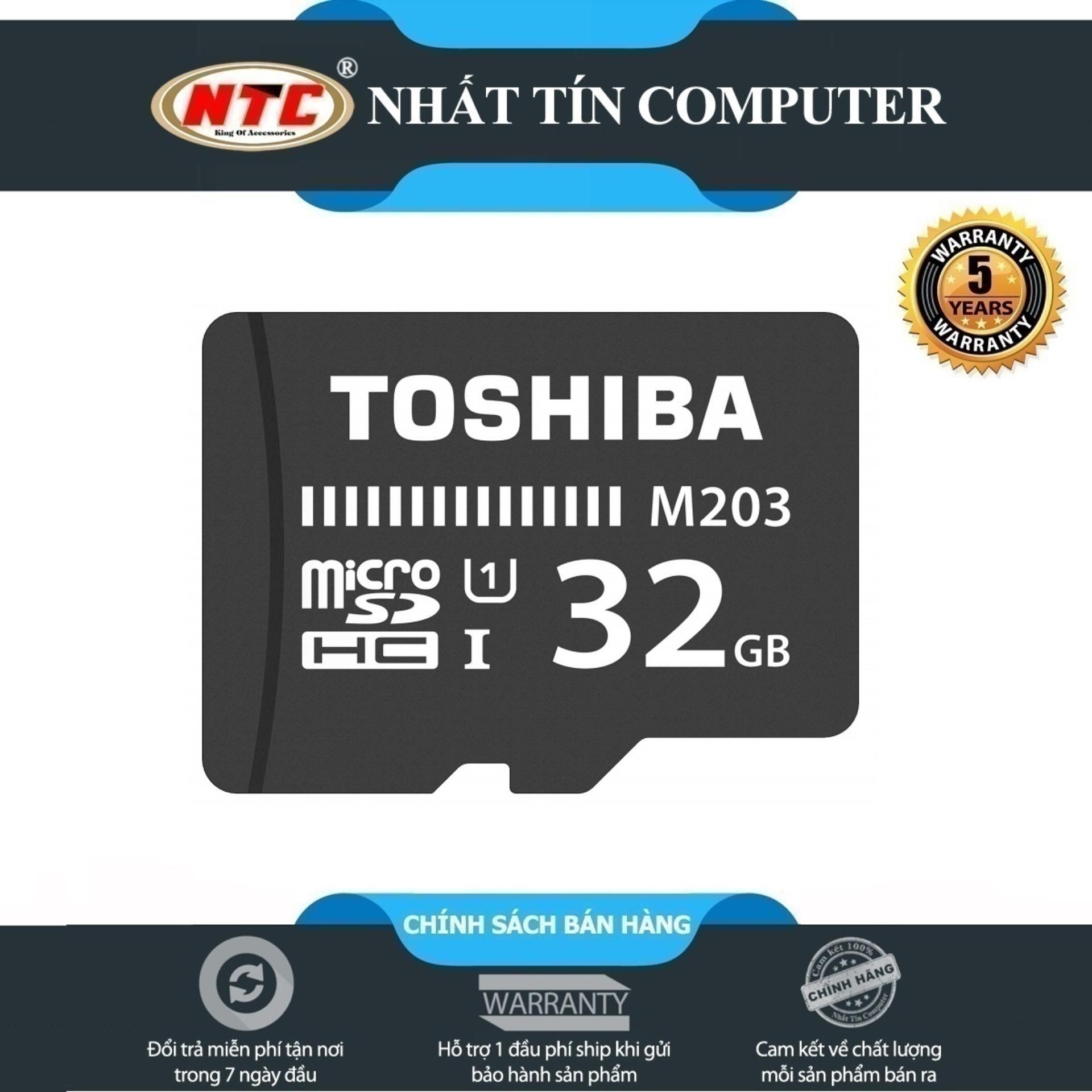 [HCM]Thẻ nhớ MicroSDHC Toshiba M203 UHS-I U1 32GB 100MB/s (Đen) - Không Box - Nhất Tín Computer