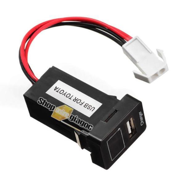 Cổng Sạc USB + Vôn Kế Điện Cho Xe Toyota Nhỏ 12V 2.1A