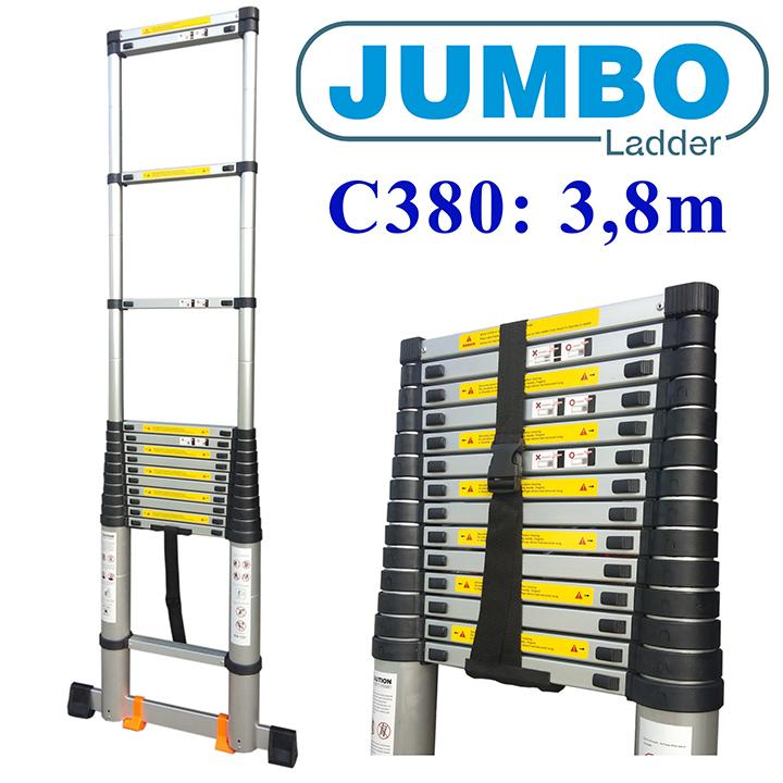 Thang nhôm rút JUMBO C380 - 3m8