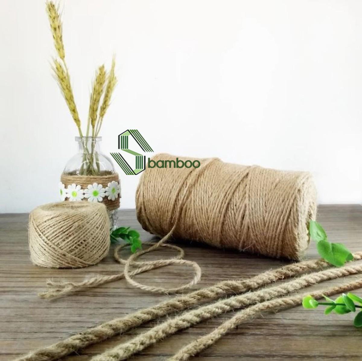 Dây thừng trang trí, dây thừng gai, dây làm handmade SBAMBOO cuộn 100 mét