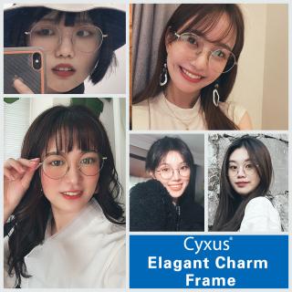 Cyxus Hàn Quốc Tròn màu xanh lam chặn ánh sáng kính máy tính Kính gọng kim loại Kính mắt chống tia UV400 cho nữ Kính mắt nam 8090 thumbnail
