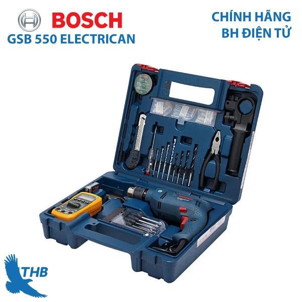 Bộ máy khoan động lực Bosch GSB 550 Electrician Set dụng cụ điện