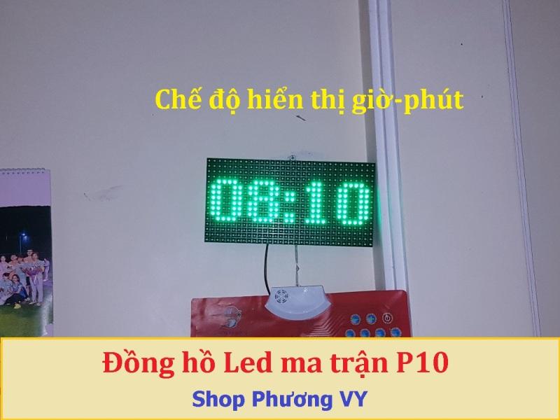 Đồng hồ Led Matrix, Led P10 siêu to khổng lồ - Màu xanh lá bán chạy