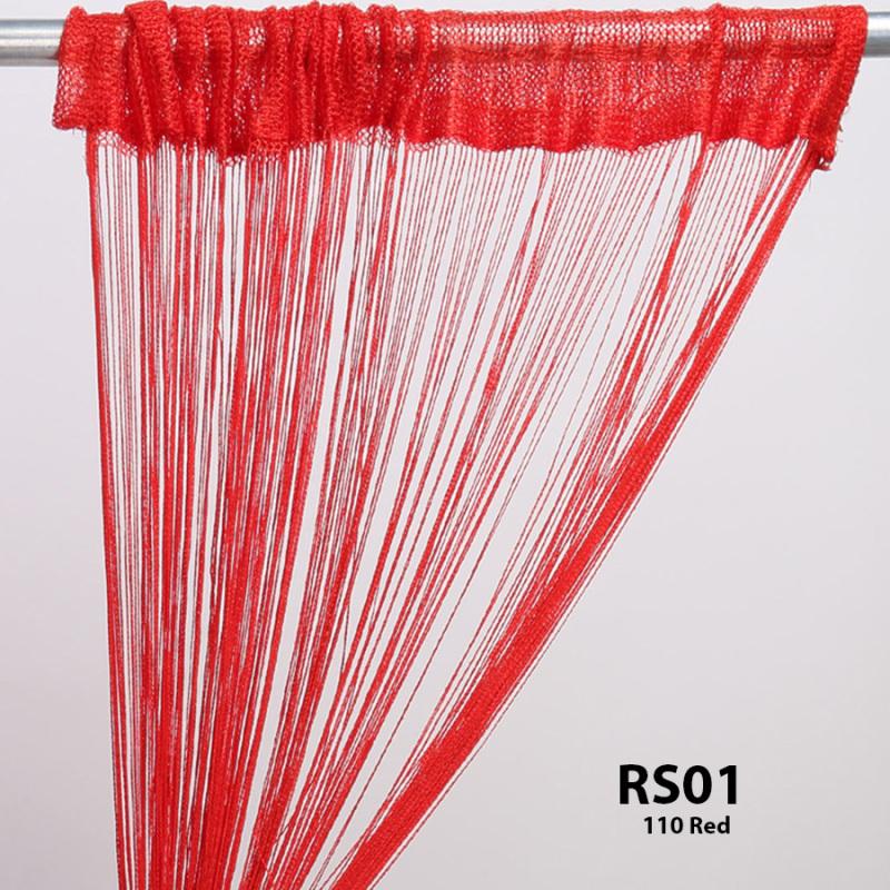Rèm sợi chỉ trơn màu đỏ tươi 3m*3m Rèm sợi chỉ trang trí nhà hàng, shop, spa tiệc cưới