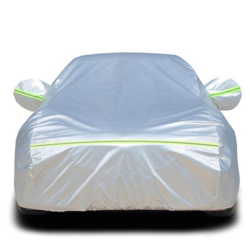 Bạt phủ ô tô, xe hơi cách nhiệt, chống nóng, chống nước vải PEVA tráng nhôm  kèm khóa chống trộm - hàng cao cấp
