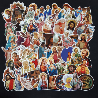 Bộ Sticker dán cao cấp chủ đề CHÚA JESU - Dùng dán Xe, dán mũ bảo hiểm, dán Laptop... thumbnail