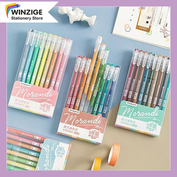 Mua Winzige Set 9 bút mực nhiều màu, ngòi 0.5mm, thiết kế đơn giản dễ thương cho học sinh - INTL