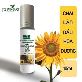 Chai Lăn Dầu Hướng Dương PUREVESS ( 10ml ) Giúp làm mềm da, giữ ẩm cho da và làm dịu kích ứng, thumbnail