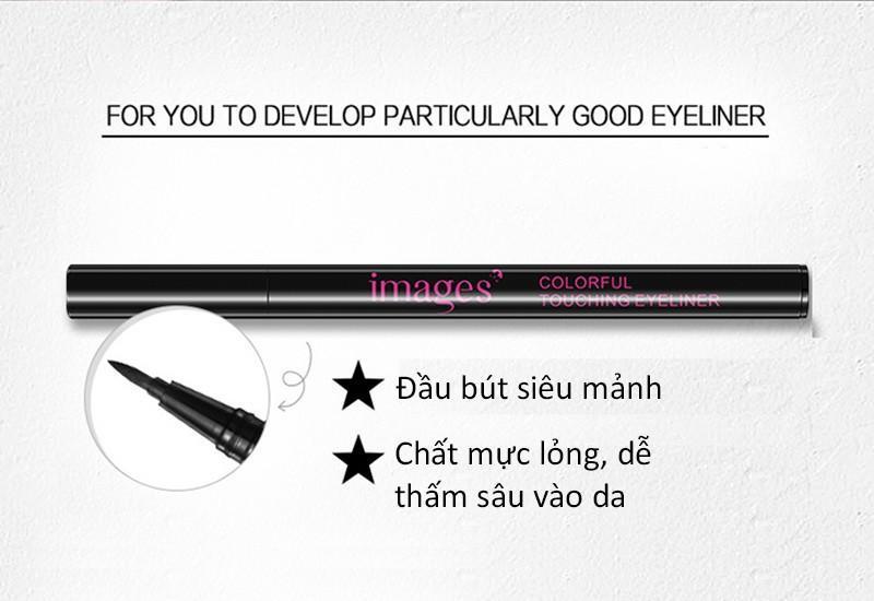 Bút dạ kẻ mắt siêu mảnh IMAGES kẻ viền mắt bút lông kẻ mắt kẻ mắt nước nội địa Trung GM-KM1