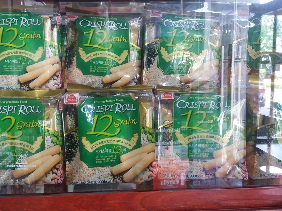 Bánh dinh dưỡng 12 loại ngũ cốc PEI TIEN CRISPI ROLL 180g