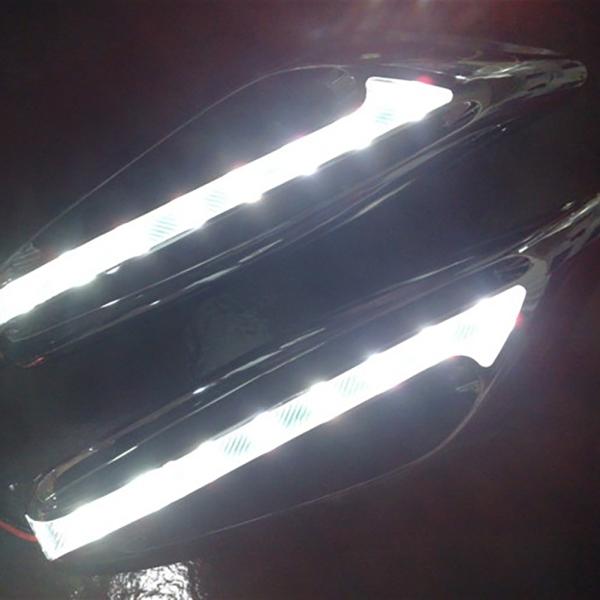 1 Cặp Đèn Chỉ Đạo Fender Side Lamp DC12V Blade Shape Auto Car LED Side Lights Marker Bật Đèn Tín Hiệu