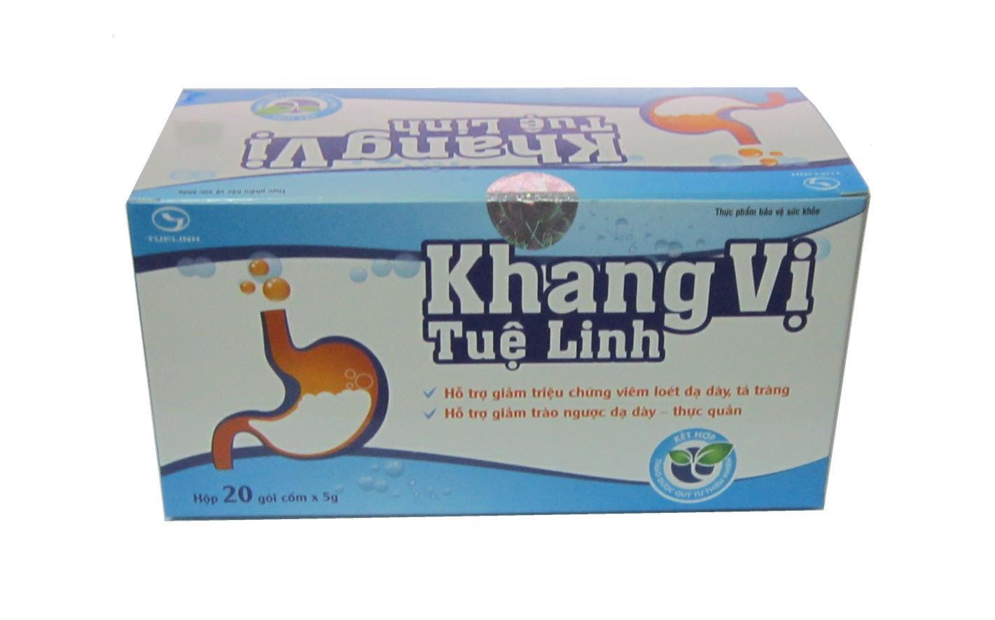 Khang Vị TUỆ LINH - Giảm viêm loét, trào ngược dạ dày (Hộp 20 gói)