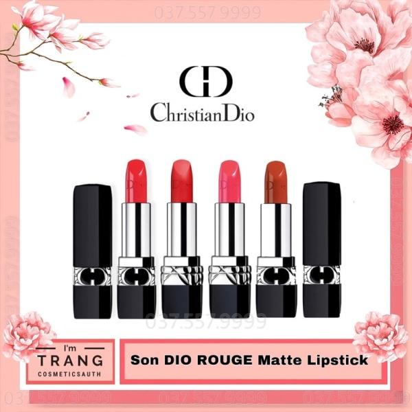 Son Dior Rouge Matte Lipstick, Dior Matte Velvet, Son Full size tặng kèm hộp quà