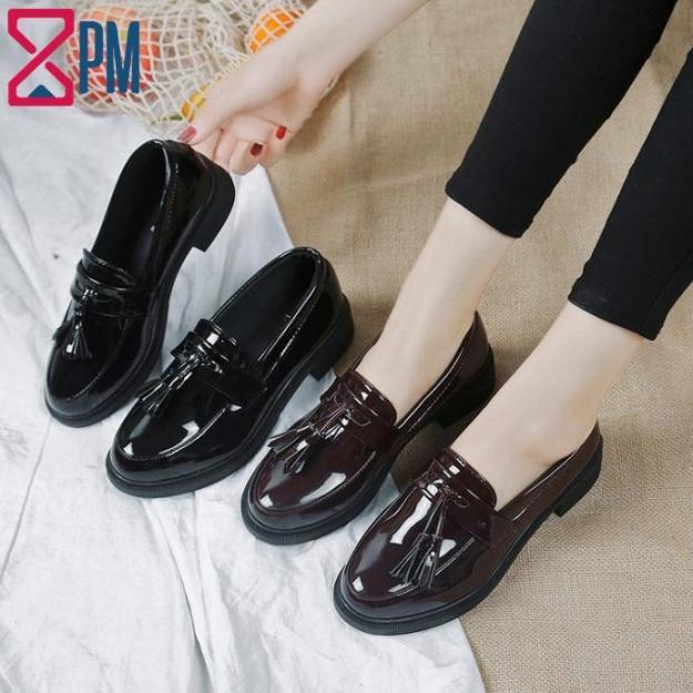 Giày Nữ Da Bòng Mọi OXFORD Gót Cao 3cm G1410 giá rẻ