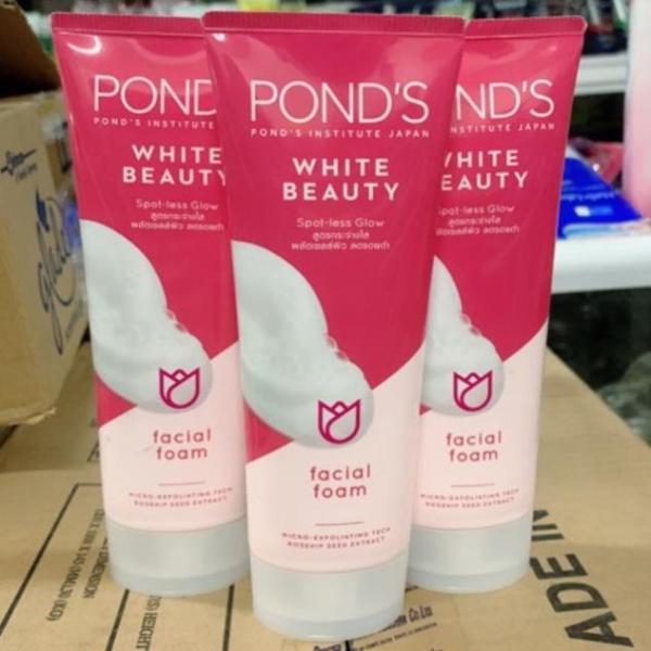 Sữa rửa mặt trắng hồng rạng rỡ Ponds White Beauty Pinkish White Facial Foam 100g