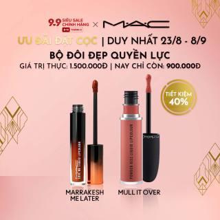 [ƯU ĐÃI ĐẶT TRƯỚC 23.8-8.9] MAC - Bộ 2 món Son kem chứa dưỡng ẩm MAC Love Me Liquid Lipcolour 3.1ml, Son môi MAC Powder Kiss Liquid Lipcolour 5ml ( Giá thực 1,500,000vnd) thumbnail
