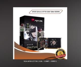 CARD MÀN HÌNH VGA AFOX GT730 ( 2GB 128BIT DDR3 ) CHÍNH HÃNG BẢO HÀNH 36 THÁNG thumbnail