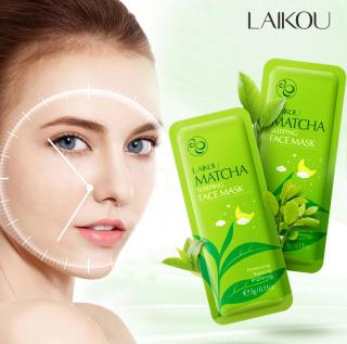 Combo 3 miếng mặt nạ dưỡng da LAIKOU tinh chất trà xanh cấp ẩm chống lão hóa mặt nạ dưỡng trắng mặt nạ ngủ matcha mặt nạ nội địa Trung IW-MN133 thumbnail
