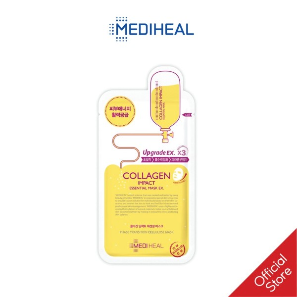 Mặt nạ collagen ngăn ngừa lão hóa da Mediheal Collagen Impact Essential Mask EX 24ml, cung cấp thành phần hoạt hóa collagen