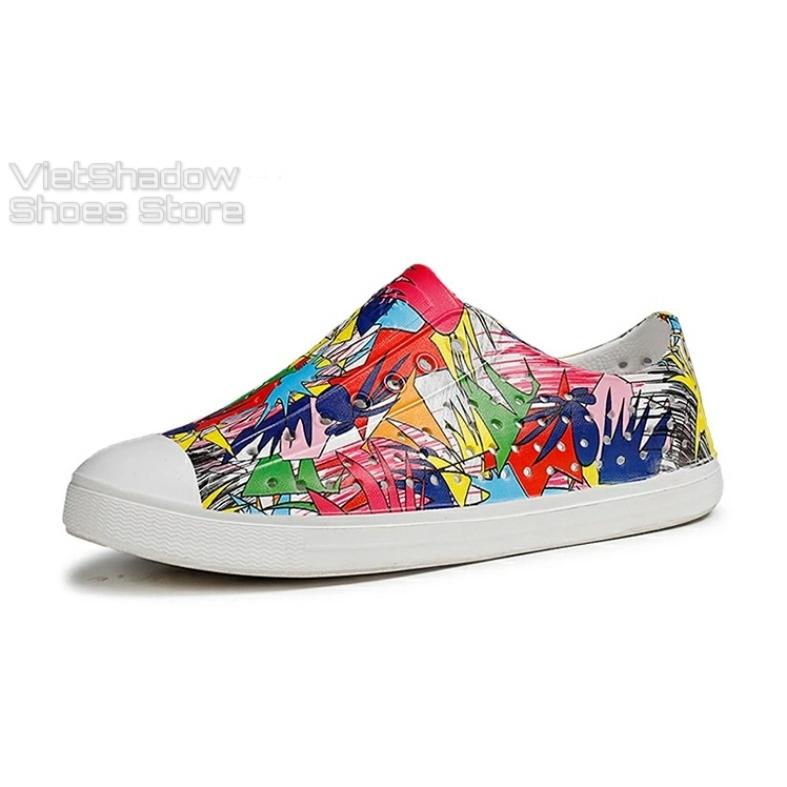Giày nhựa đi mưa WNC Native - Chất liệu EVA siêu nhẹ, êm, mềm, không thấm nước - Loại họa tiết sơn nhúng giá rẻ