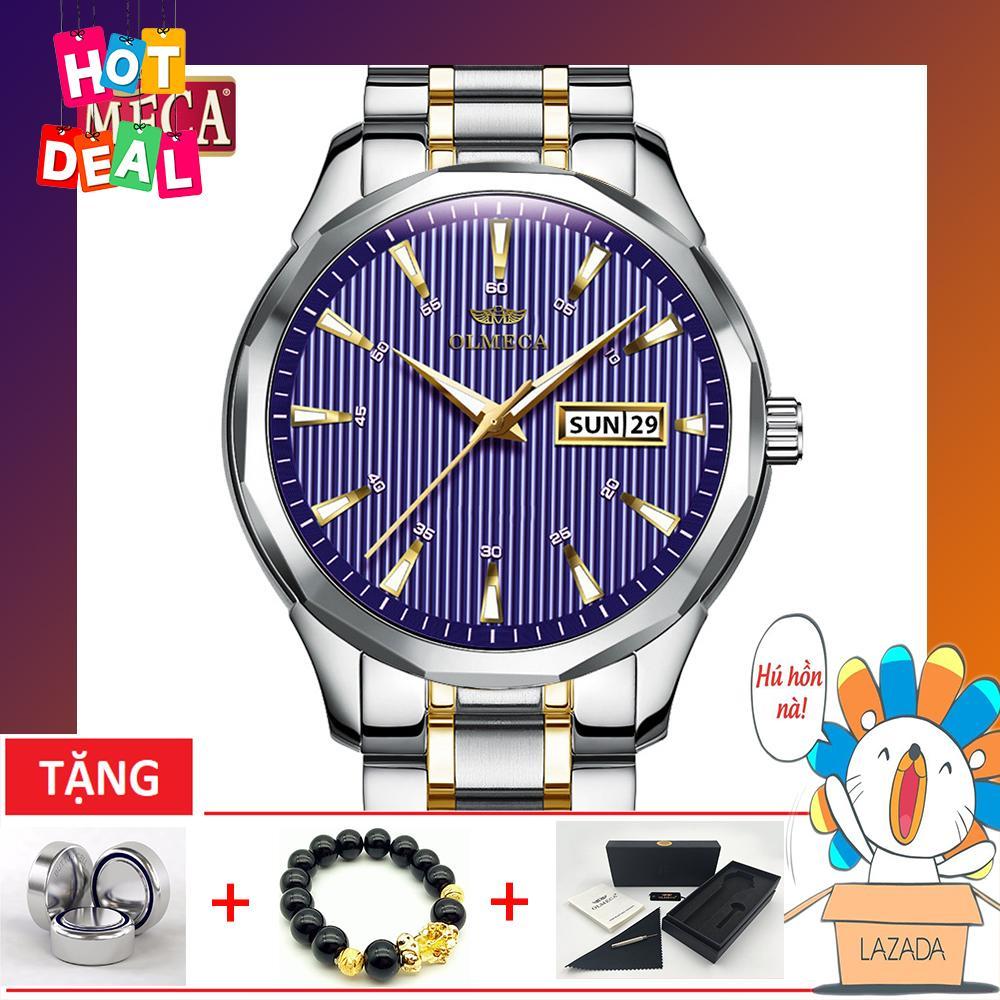 Đồng hồ nam dây thép không gỉ Olmeca OT85-3T (TẶNG FULLBOX, PIN, VÀ DỤNG CỤ CẮT DÂY & VÒNG TAY) bán chạy
