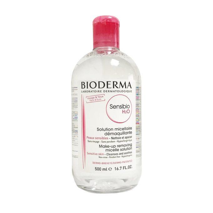 Nước tẩy trang hồng Bioderma Sensibio H20  500ml tốt nhất